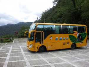 Bus im Nationalpark Taroko/Taiwan