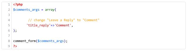 WordPress Tutorial – wie kann ich den Text im Kommentar-Formular ändern?